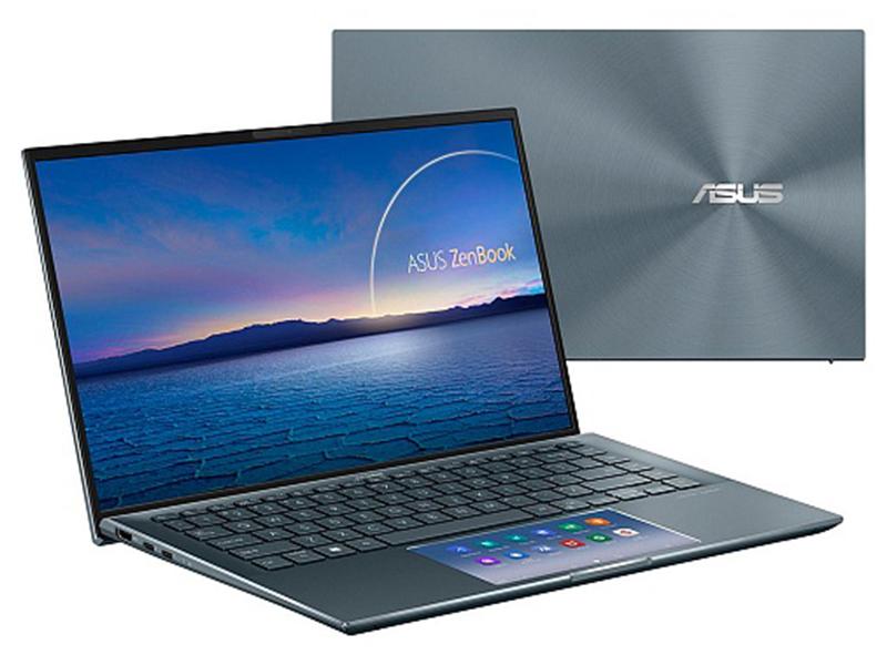 Ноутбук ASUS Zenbook 14 UX435EA-A5022R Pine Grey 90NB0RS1-M01150 (Intel Core i7-1165G7 2.8GHz/16384Mb/1024Gb SSD/Intel Iris Xe Graphics/Wi-Fi/Bluetooth/Cam/14.0/1920x1080/Windows 10)