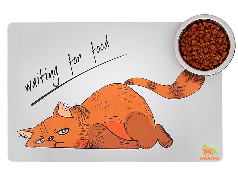 Коврик под миску Пижон Waiting for Food 43х28cm 5089591