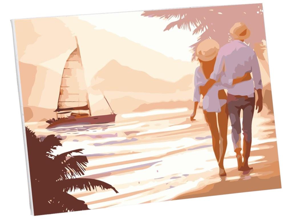 Картина по номерам Школа талантов Прогулка пляжу 40x30cm 5177179