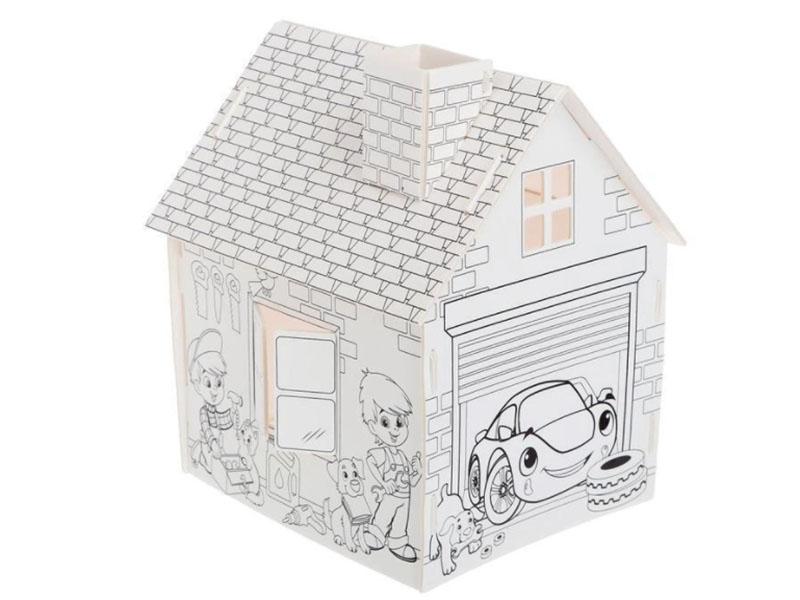 Домик раскраска Zabiaka Мой гараж 3 в 1 4720047