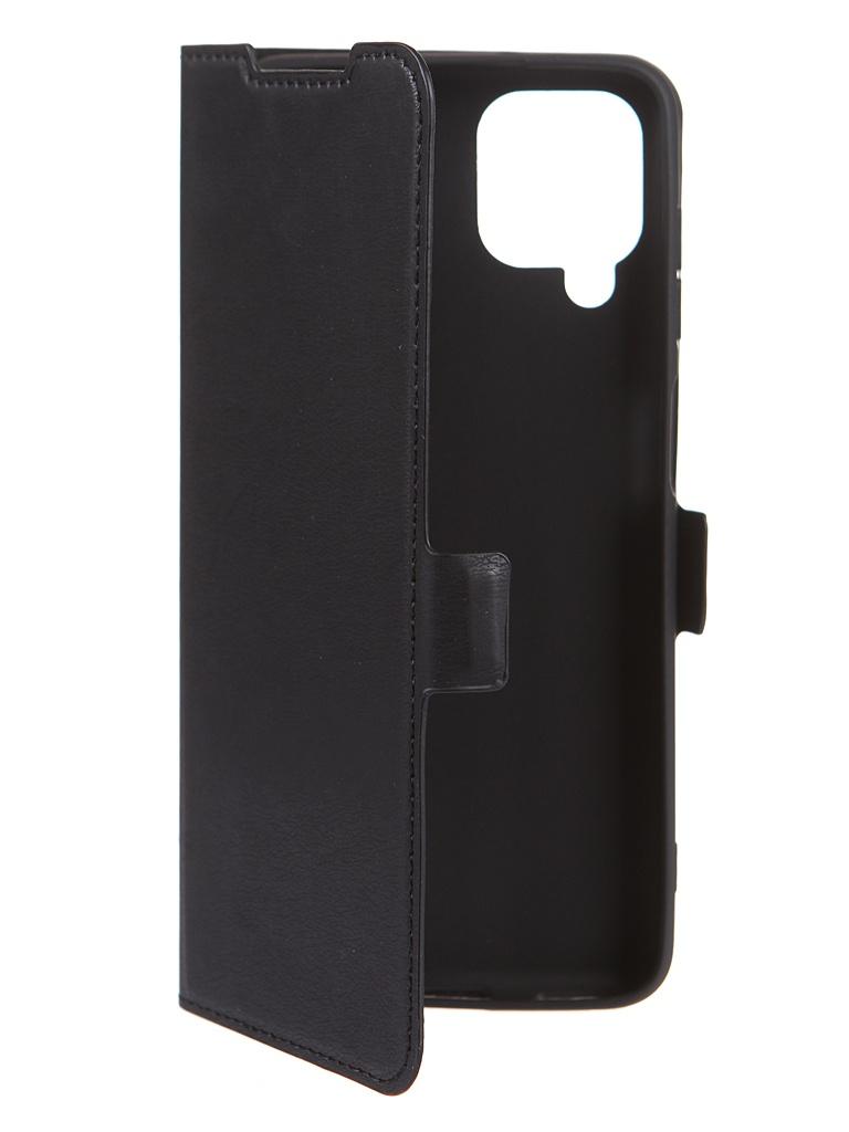 Чехол DF для Samsung Galaxy M12 (4G) Black sFlip-82