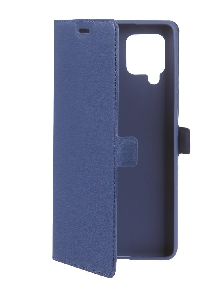 Чехол DF для Samsung Galaxy A42 Blue sFlip-88