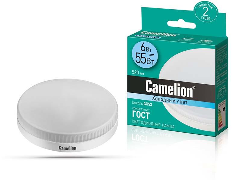 Лампочка Camelion GX53 6W 220V 4500K 520Lm LED6-GX53/845/GX53 13543