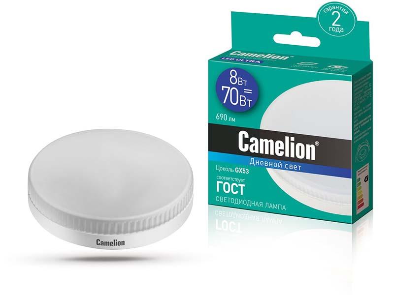 Лампочка Camelion GX53 8W 220V 6500K 690Lm LED8-GX53/865/GX53 13614