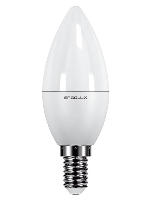 Лампочка Ergolux E14 7W 220V 6500K 680Lm LED-C35-7W-E14-6K 12874