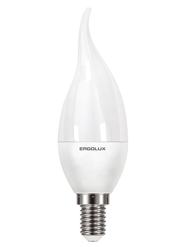 Лампочка Ergolux E14 9W 220V 6500K 864Lm LED-CA35-9W-E14-6K 14233