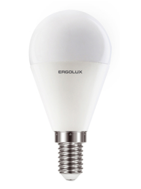 Лампочка Ergolux E14 11W 220V 6500K 1070Lm LED-G45-11W-E14-6K 13629