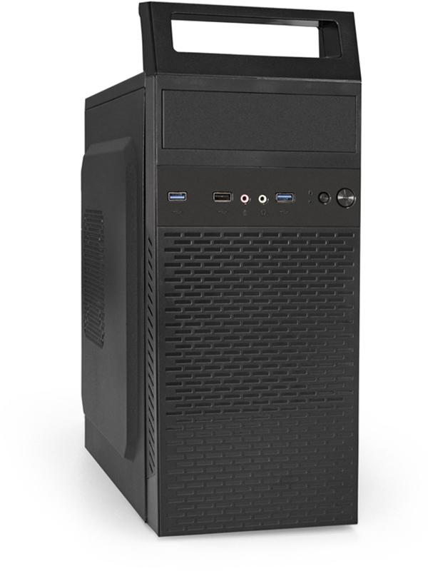 Корпус ExeGate Minitower QA-409U2-600W-12 Black 600W EX287420RUS