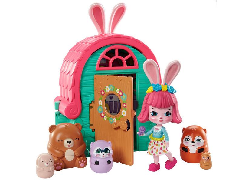 Кукла Mattel Enchantimals Маленький домик зайки GTM47