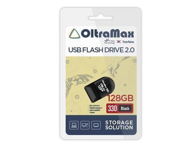 Фото - USB Flash Drive 128Gb - OltraMax 330 2.0 OM-128GB-330-Black usb flash drive 16gb oltramax 50 om 16gb 50 dark violet