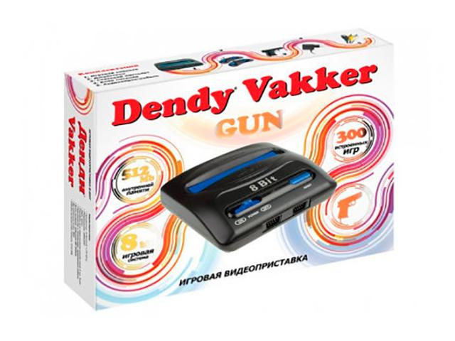 Фото - Игровая приставка Dendy Vakker 300 игр + световой пистолет игровая приставка dendy junior 300 игр световой пистолет