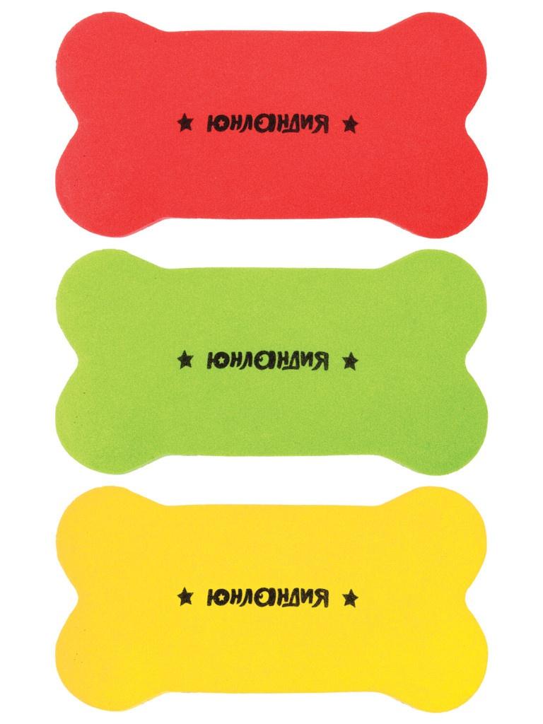 Стиратели магнитные для магнитно-маркерной доски Юнландия Косточка 55х110mm 3шт 237503