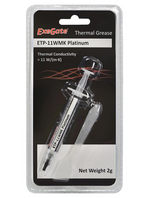 Термопаста ExeGate ETP-11WMK Platinum 2g EX282341RUS