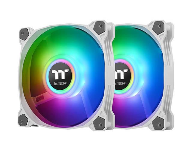 Вентилятор Thermaltake Fan Tt Pure Duo 14 ARGB Sync (2 Pack) White CL-F098-PL14SW-A водяное охлаждение thermaltake floe riing rgb 280 tt premium edition cl w167 pl14sw a