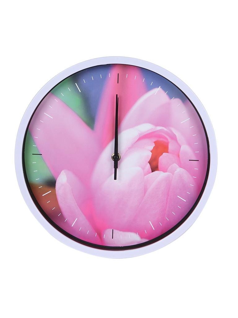 Часы Perfeo PF-WC-003 White-Tulips PF_C3064 часы perfeo quartz pf tc 003 green pf c3094