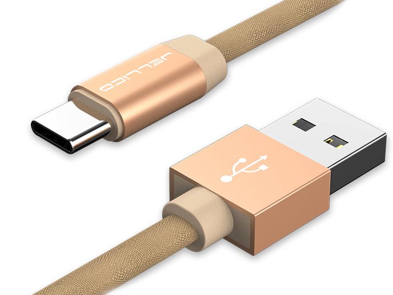 Аксессуар Jellico YC-15 USB - Type-C 1m Gold