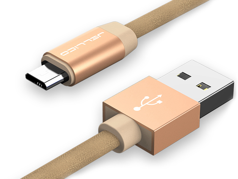Аксессуар Jellico YC-15 USB - MicroUSB 1m Gold