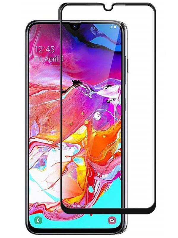 Защитное стекло Mietubl для Samsung A70 / A70S Super D Full Glue Black M-637733