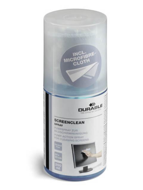 Спрей для очистки мониторов Durable Screenclean 200ml 582300