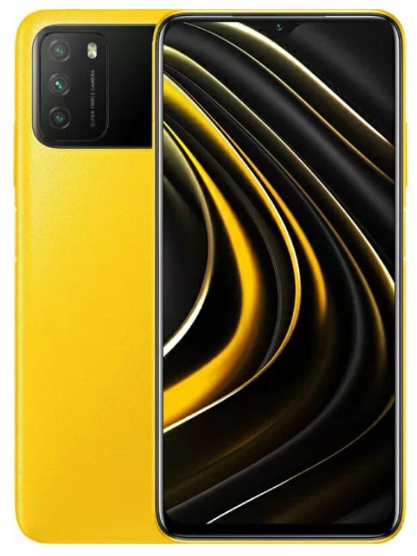 Сотовый телефон Poco M3 4/128Gb Yellow Выгодный набор + серт. 200Р!!! сотовый телефон vsmart joy 3 4 64gb purple topaz