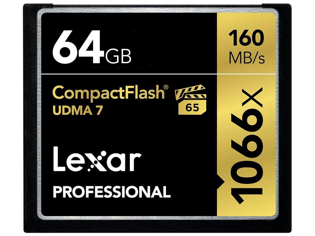 Карта памяти 64Gb - Lexar Compact Flash 1066x LCF64GCRB1066