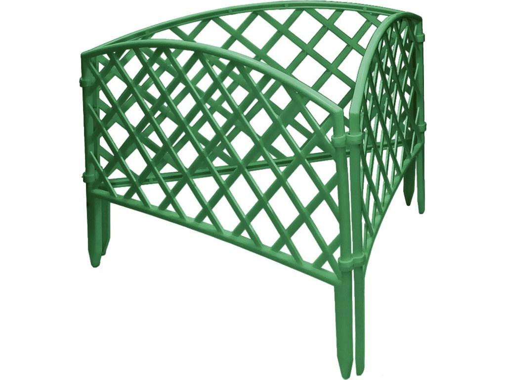 Забор декоративный Palisad Сетка 24x320cm Green 65006