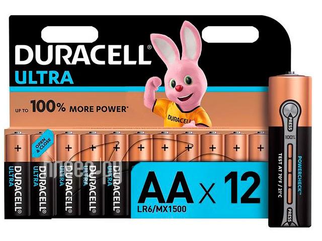 Батарейка AA - Duracell LR6 12BL Ultra Power (12 штук)