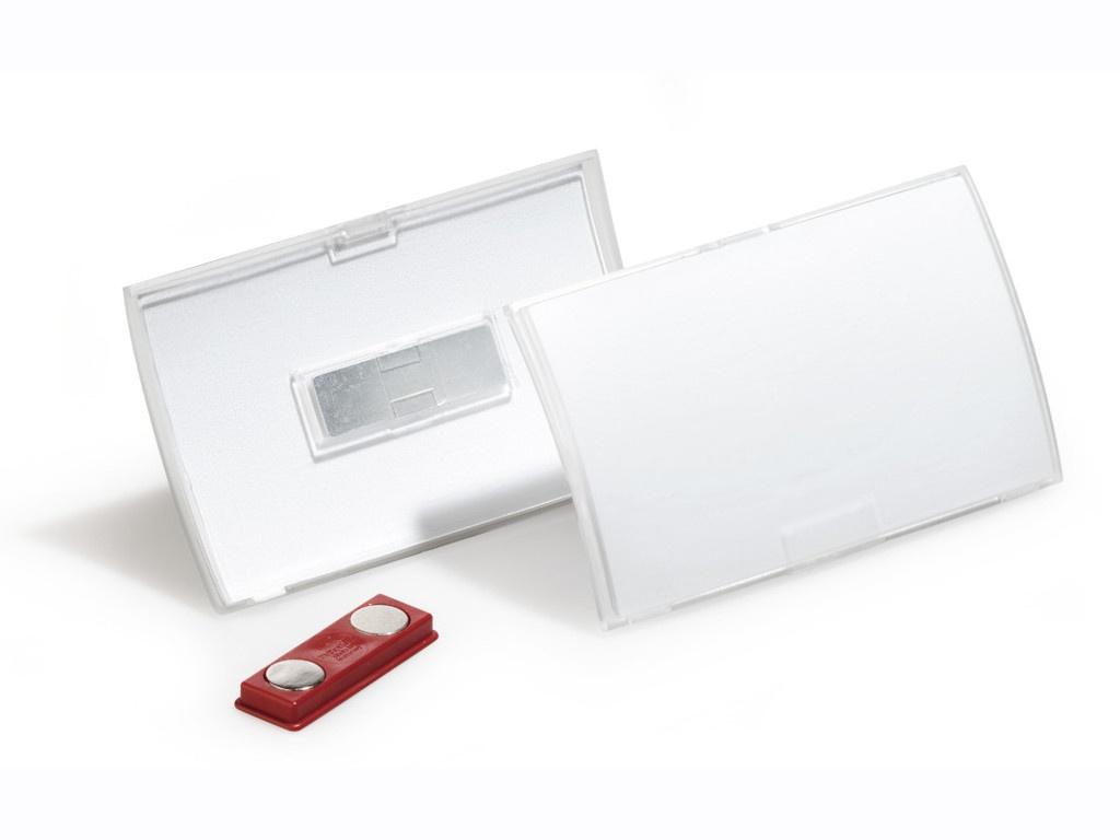 Бейдж Durable Click Fold 40x75mm магнитный полипропилен Transparent 8212-19