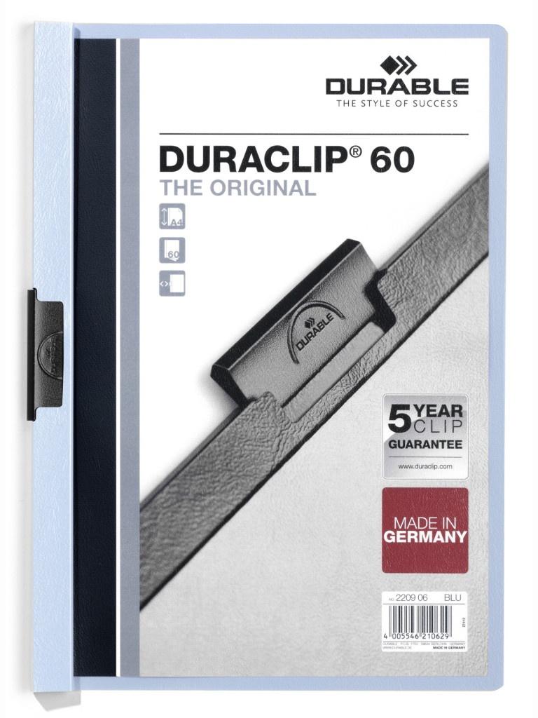 Папка Durable Duraclip A4 Blue 2209-06
