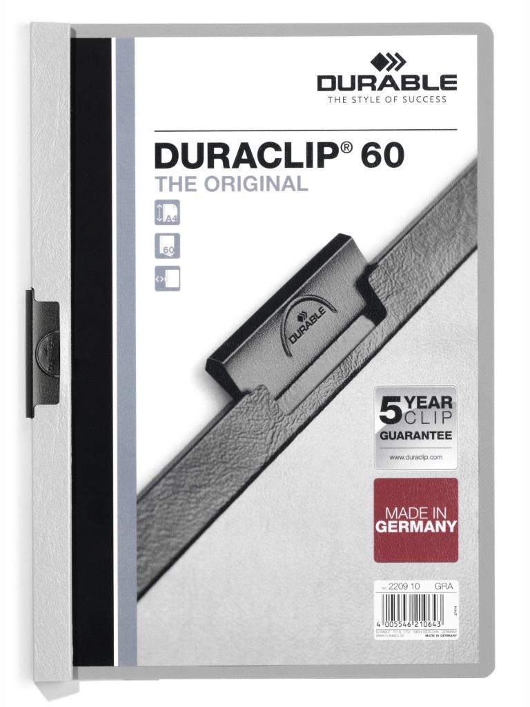 Папка Durable Duraclip A4 Grey 2209-10