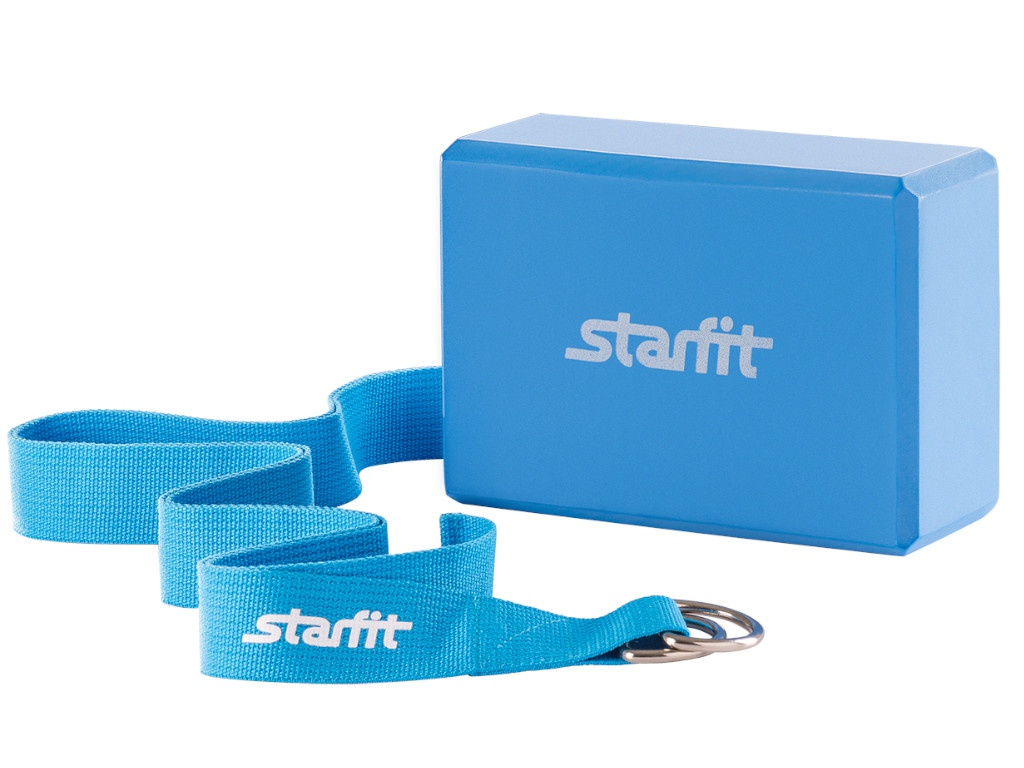 Комплект для йоги Starfit FA-104 Blue УТ-00008966