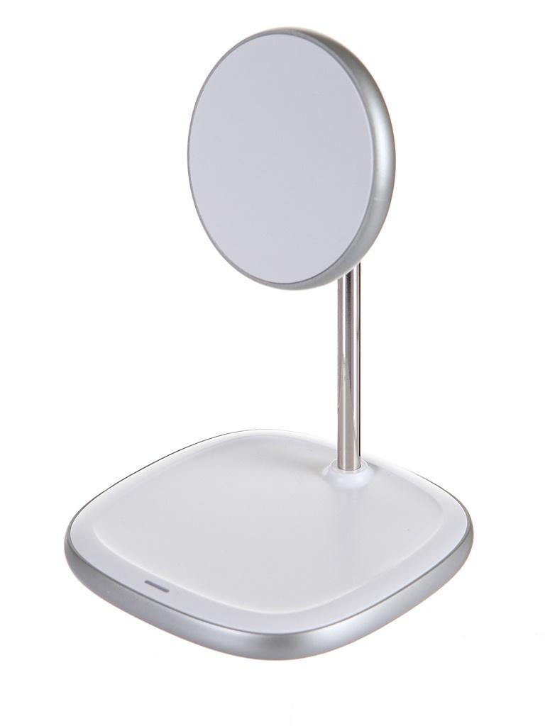 Зарядное устройство Baseus Swan Magnetic Desktop Bracket Wireless Charger для APPLE iPhone 12 White WXSW-02