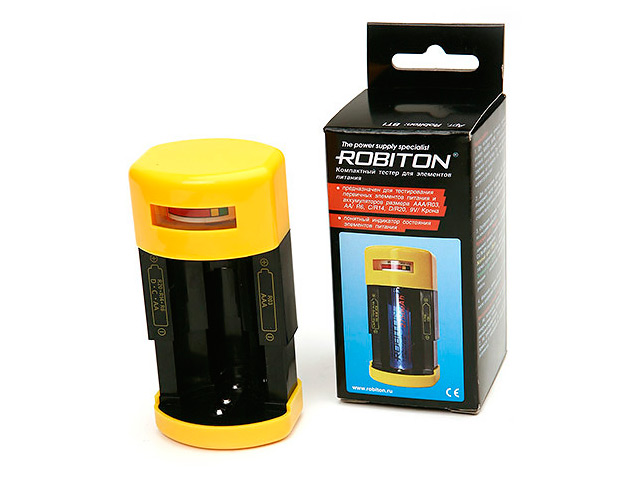 Тестер уровня заряда Robiton BT1 7208