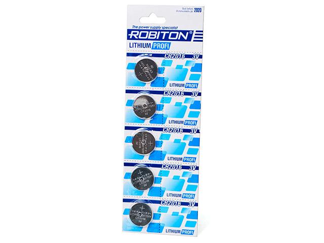 Батарейка CR2016 - Robiton Profi R-CR2016-BL5 (5 штук) 13414 недорого