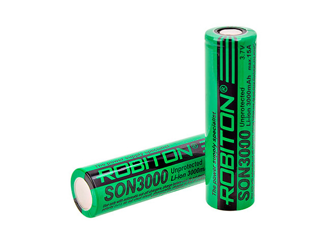 Аккумулятор 18650 - Robiton 3000mAh SON3000 15А PK1 (1 штука) 15700