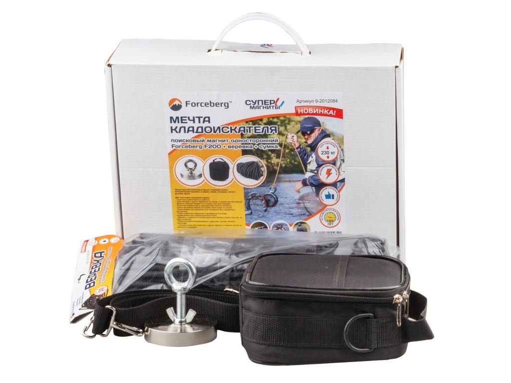 Поисковый магнит Forceberg F200 + веревка сумка 9-2012084