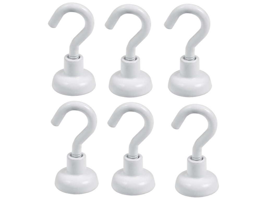 Крючки на магните Forceberg E16 6шт White 9-1672036Б-006