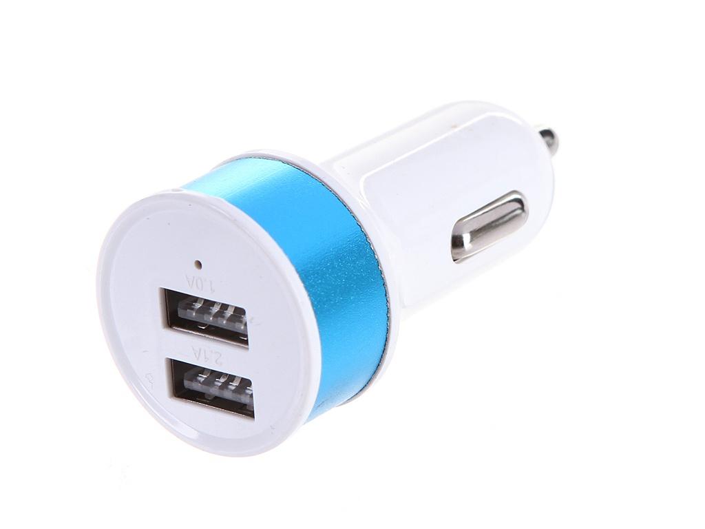 Фото - Зарядное устройство Media Gadget CPS-110UC 2xUSB 2.1A/1A Blue MGCPS110UCBL зарядное устройство media gadget hps 110uc usb type c power delivery white mghps110ucwt