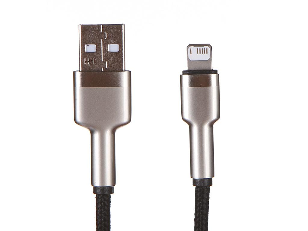 Фото - Аксессуар Baseus Cafule Series USB - Lightning 2.4A 1m Black CALJK-A01 аксессуар baseus tungsten gold lightning usb type c 2m black catlwj a01