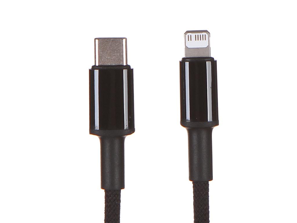 Фото - Аксессуар Baseus High Density Braided USB Type-C - Lightning 20W 1m Black CATLGD-01 аксессуар baseus glowing usb lightning blaсk callg 01