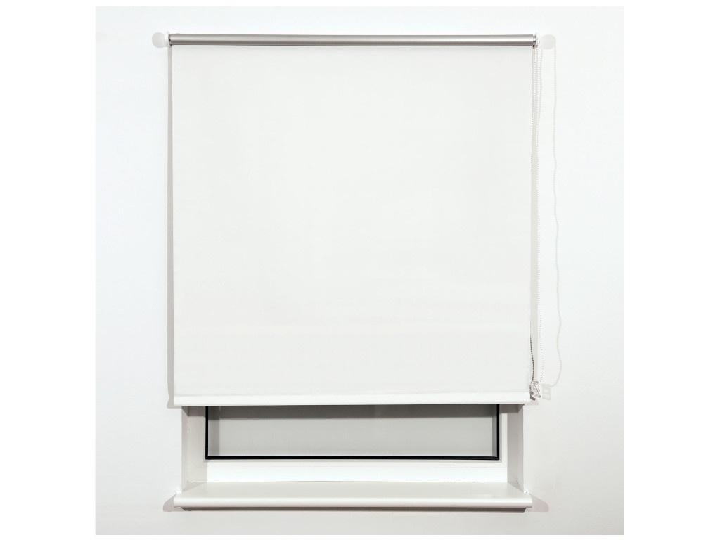 Штора рулонная Brabix Блэкаут 160х175cm White-Silver 606021