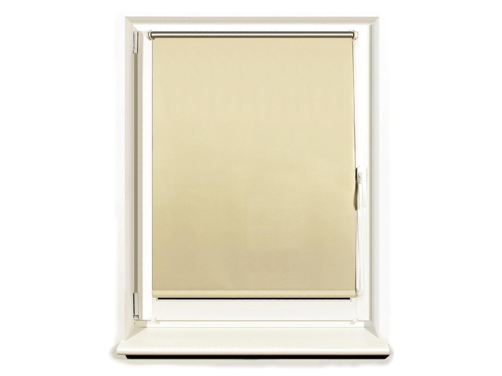 Штора рулонная Brabix Блэкаут 60х175cm Cream-Silver 606008