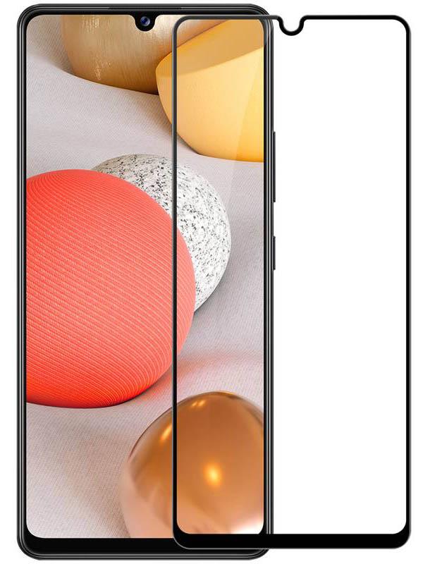 Защитное стекло Pero для Samsung Galaxy A42 Full Glue Black PGFG-A42