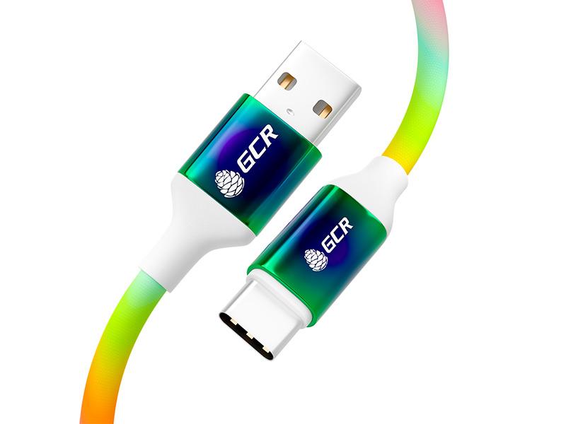 Аксессуар GCR USB 2.0 - Type-C 1.2m Gradient GCR-53075