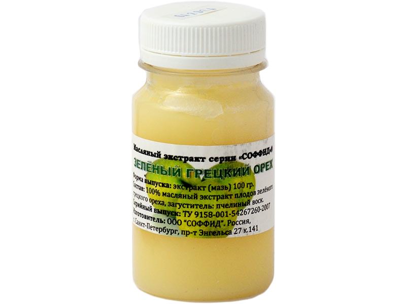 Масляный экстракт Соффид Зелёный грецкий орех 100g