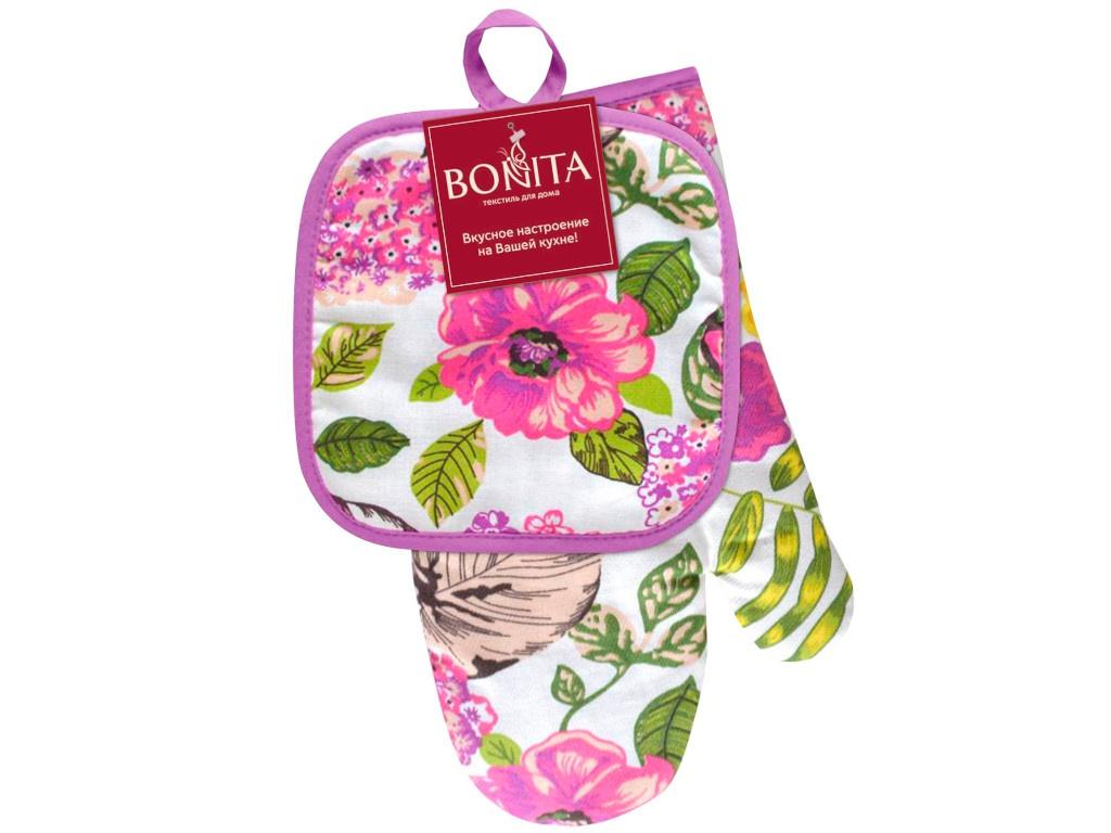 Кухонный набор Bonita Фиалка: рукавица, прихватка 11010819514