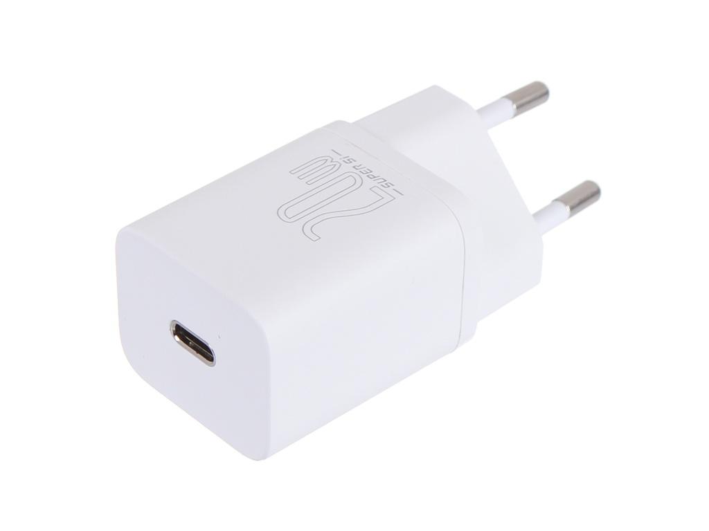 Зарядное устройство Baseus Super Si Quick Charger 1C 20W EU Sets White + Type-C - Lightning TZCCSUP-B02