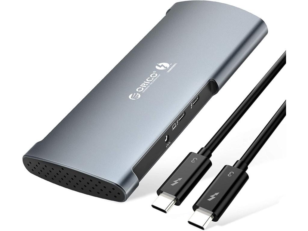 Хаб USB Orico Thunderbolt 3 8 in 1 Multi Function Docking Station TB3-S1 Grey