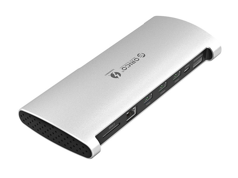Хаб USB Orico Thunderbolt 3 8 in 1 Multi Function Docking Station TB3-S1 Silver