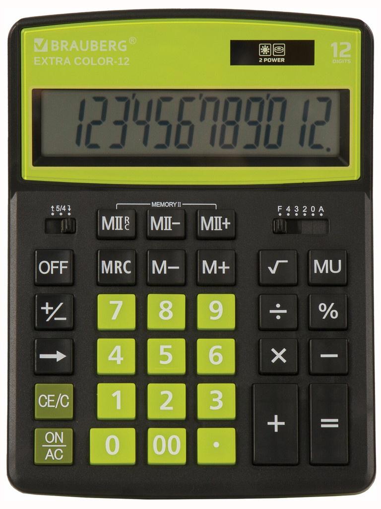 Калькулятор Brauberg Extra Color-12-BKLG 250477
